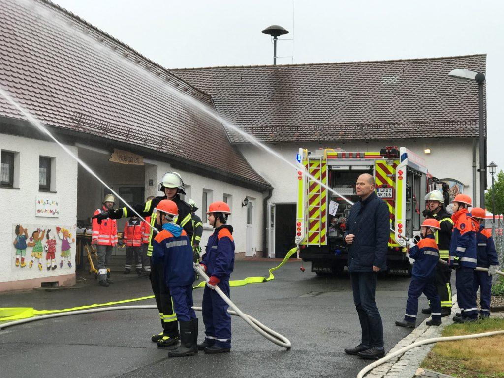 Jens Fankhänel bei der Feuerwehr