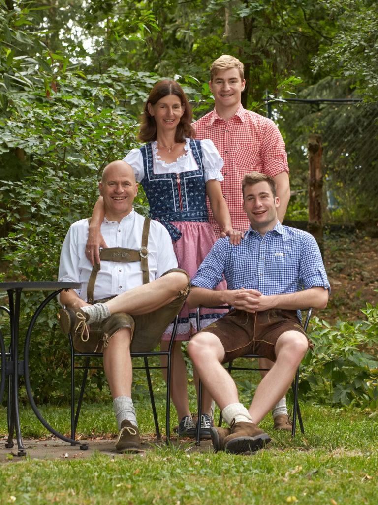 Familienfoto Fankhaenel Zuhause in Speikern