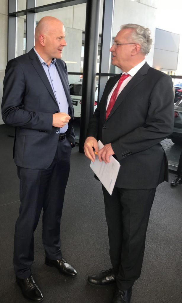 Jens Fankhänel mit dem bayrischen Innenminister Joachim Herrmann