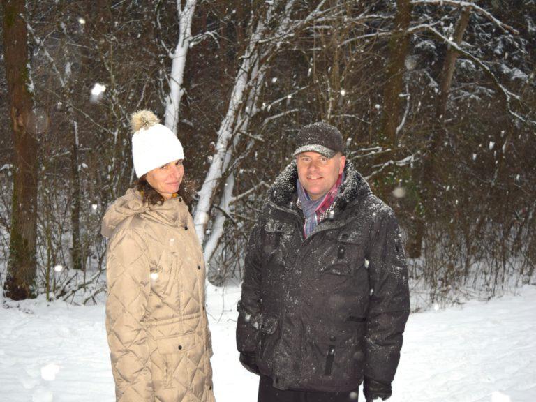 Jens und Sylke bei einem Spaziergang in Speikern