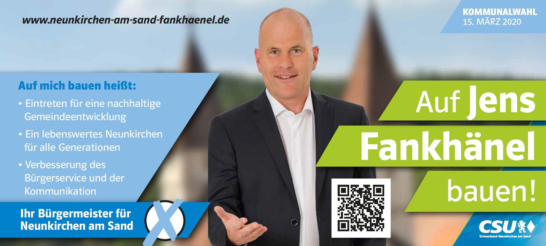 Anzeige Auf Jens Fankhänek bauen