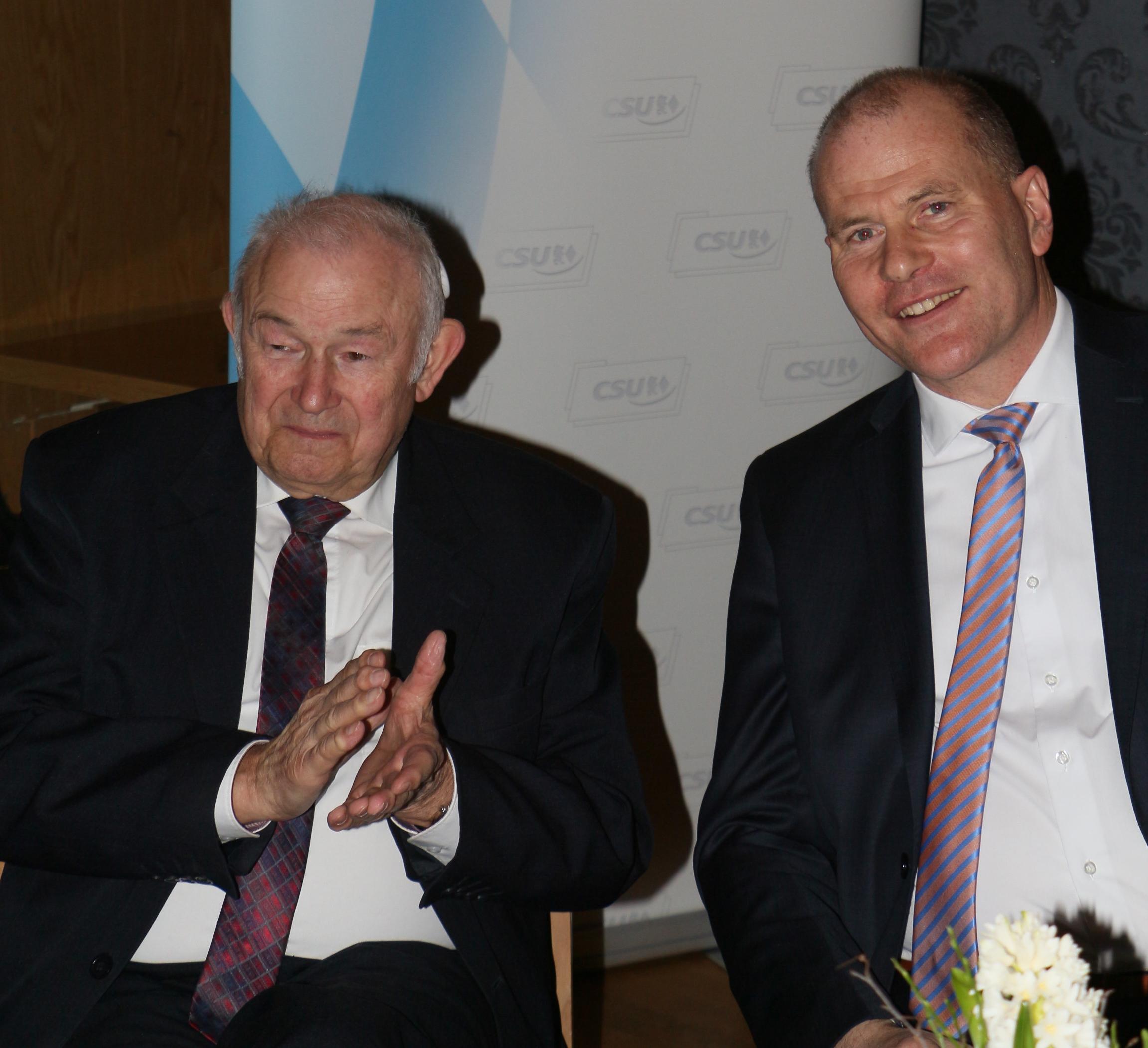 Beckstein und Fankhänel beim Jahresempfang